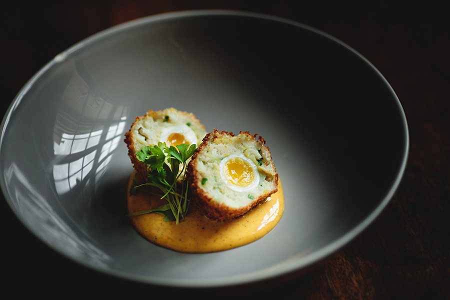 egg. haddock. rendang mayonnaise.